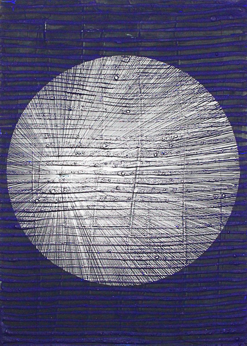 circle_Holz, Acryl, Pigment, Graphit_2018